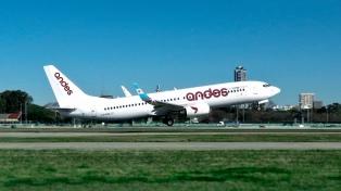 Andes inicia sus vuelos regulares a Comodoro Rivadavia