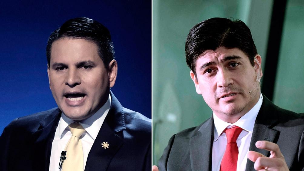 Fabricio Alvarado Muñoz (PRN) y Carlos Alvarado Quesada (PAC)