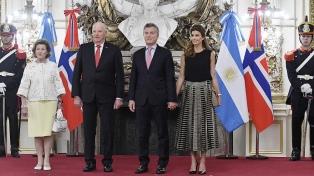 El Presidente analizó las relaciones bilaterales con los reyes de Noruega