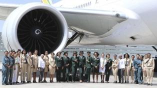 Por la gran demanda, Ethiopian tuvo que cambiar de avión para la Argentina