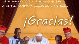 Usuarios de Twitter celebran los cinco años del pontificado de Francisco