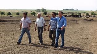 Macri visitó a productores afectados por la sequía