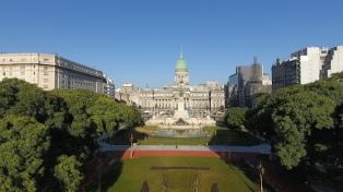 Cómo quedó la Plaza del Congreso tras la reconstrucción