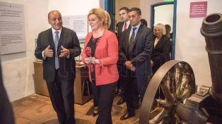 """La presidenta de Croacia visitó la provincia e insto a """"profundizar el intercambio"""""""