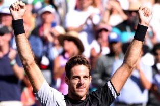 """""""Esta es la copa que quería ganar"""", dijo del Potro tras ser campeón en Indian Wells"""