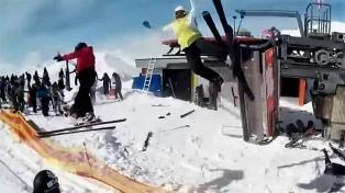 Un video que captó el accidente de un teleférico, viral en las redes
