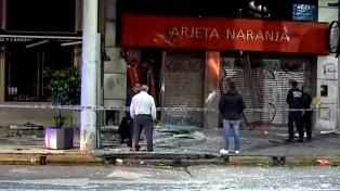 Intentaron robar un cajero automático con una explosión de gas butano