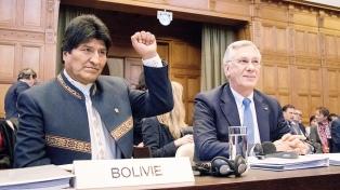 Morales dijo que percibe a Chile derrotado en el juicio por la salida al mar