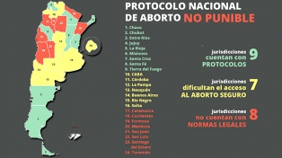 ¿Qué provincias cuentan con un protocolo no punible para abortar?