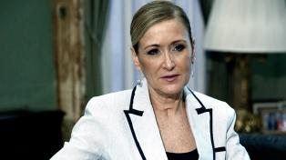 Renuncia la presidenta regional de Madrid, acorralada por escándalos