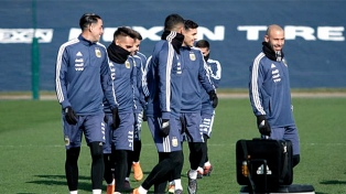La selección argentina se entrenó en Manchester
