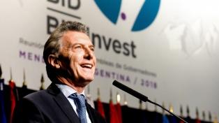 """Macri destacó el """"crecimiento gradual, inclusivo y de desarrollo"""" de la Argentina"""