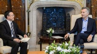 Macri recibió al vicepresidente de la empresa china que renueva la línea San Martín