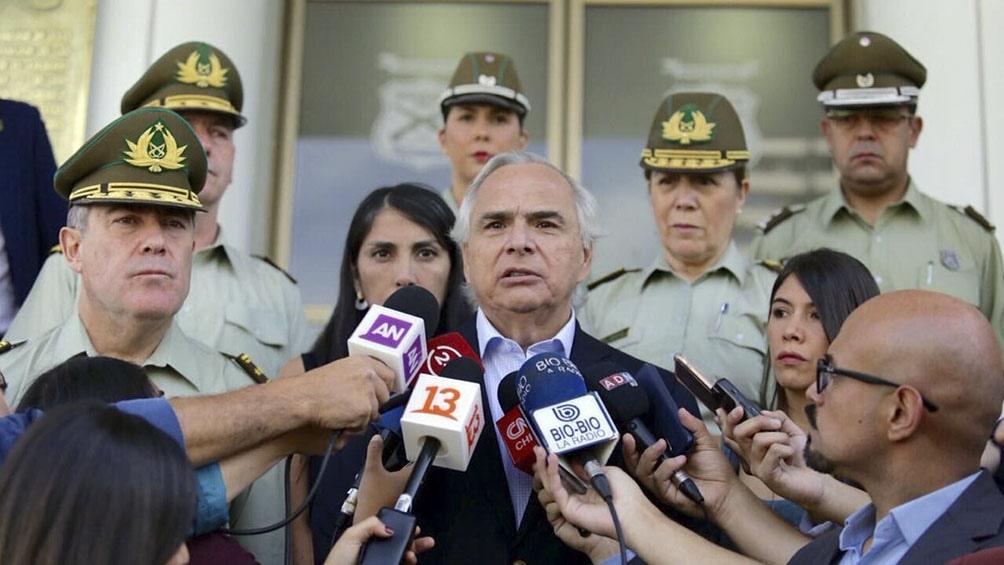 Andrés Chadwick, ministro del Interior, Chile