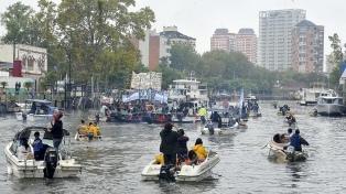 Vecinos del Delta protestaron en rechazo al aumento del transporte público fluvial