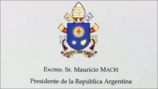 Con una carta, Francisco le retribuyó a Macri su saludo por el 5º aniversario de papado