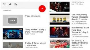 """Hackean cuentas de Youtube para eliminar """"Despacito"""" y desactivan Vevo"""