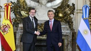 """Rajoy: """"La Argentina está haciendo un magnífico trabajo en lo económico"""""""