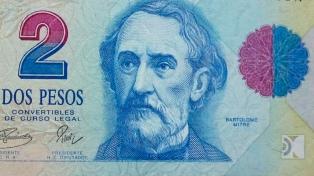 El billete de 2 pesos podrá cambiarse en los bancos hasta el 27 de abril