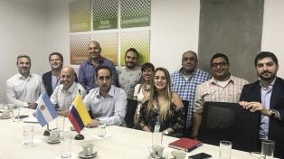 Intendentes de Cambiemos en un encuentro de cooperación con la Alcaldía de Medellín