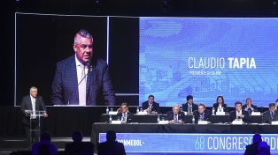 """Tapia definió como """"un sueño"""" la posibilidad de albergar el Mundial 2030"""