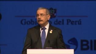 El presidente dominicano pidió equidad y transparencia en el comercio global