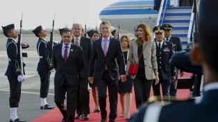 Macri llegó a Lima para participar de la Cumbre de las Américas