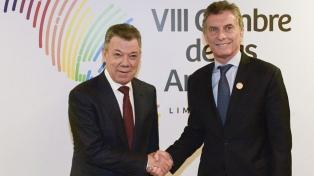 Macri analizó con Santos los avances en el combate contra el narcotráfico