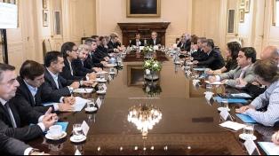 Macri encabeza la reunión semanal del gabinete en Casa de Gobierno