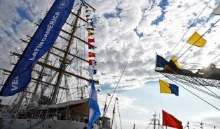 Pueden visitarse los buques escuela de Latinoamérica en el Puerto de Buenos Aires