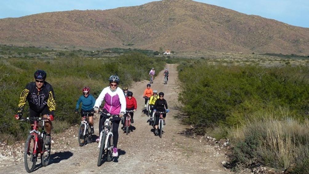 Bicicletas en el Parque Nacional  Lihué Calel, La Pampa