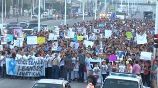 Marcharon en para pedir justicia por el colectivero asesinado hace una semana