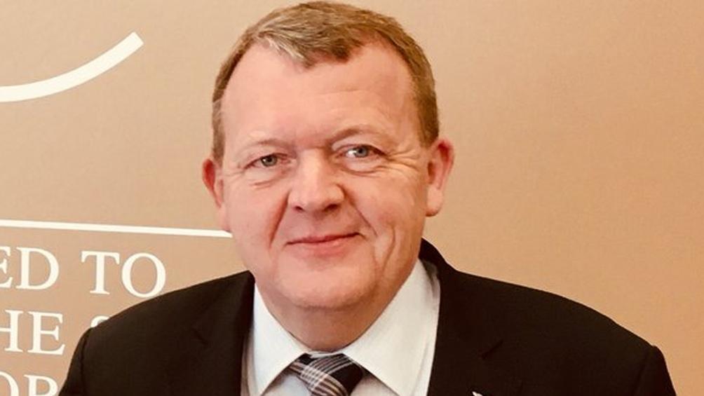 Lars Lokke Rasmussen, primer ministro y candidato de Venstre
