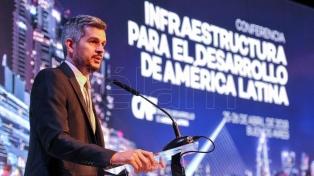 """Marcos Peña: """"El país hace dos años estaba en default y hoy tiene un gran éxito"""""""