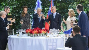 """""""Vamos a hacer grandes cosas juntos"""", dijo Macri en un almuerzo con Piñera"""