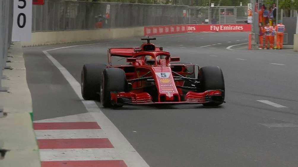 Vettel marcó el mejor tiempo con su Ferrari en el trazado de Bakú ...