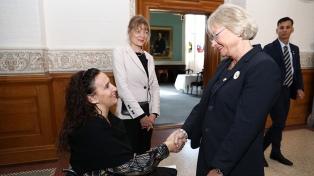 Michetti fue recibida por la reina Margarita II