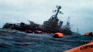 Conmemoraron el hundimiento del crucero General Belgrano