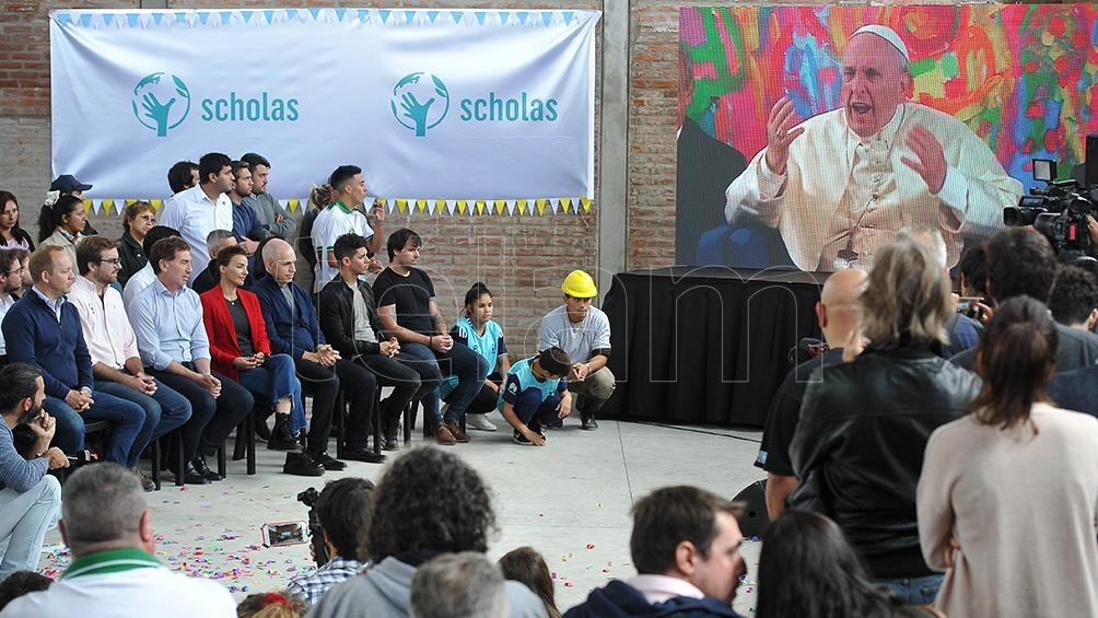 Inauguración Scholas Ocurrentes en la Villa 31