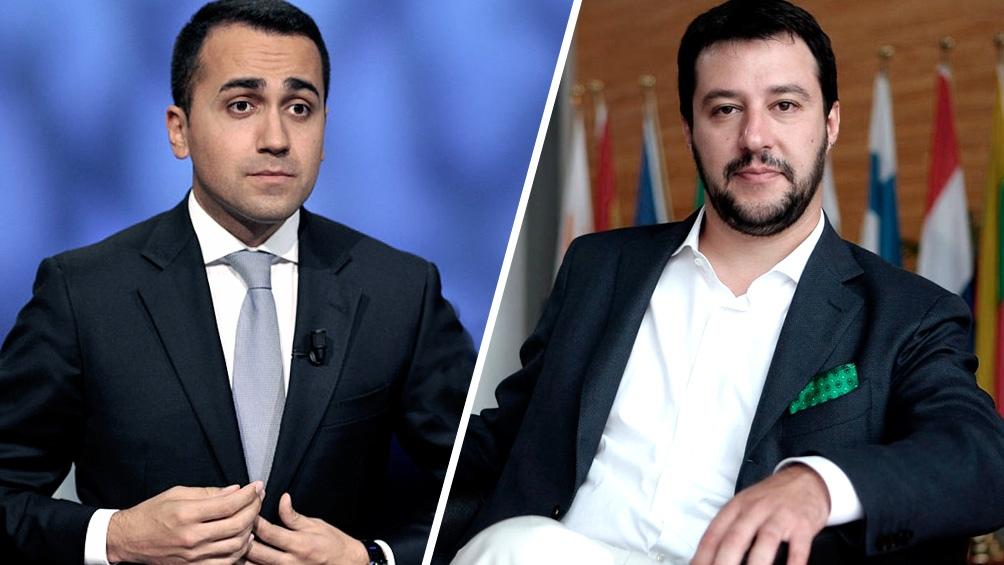 Luigi Di Maio (M5E) y Matteo Salvini (LN)