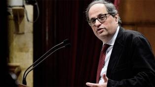 El presidente catalán visitó a los secesionistas presos y pidió por su libertad