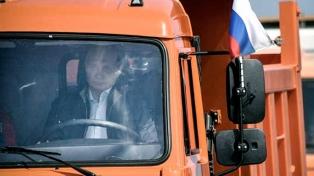 Vladimir Putin y el puente entre Rusia y Crimea