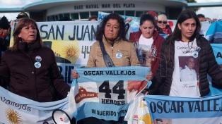 Familiares de los tripulantes del ARA San Juan se manifestaron en la Base Naval