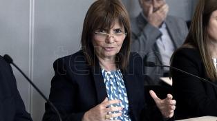 La ministra Patricia Bullrich denunció que desde La Matanza quisieron generar disturbios
