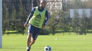 Sampaoli dirigió una práctica con algunos futbolistas en Ezeiza