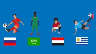 Infografía del Grupo A: Rusia, Uruguay, Egipto y Arabia Saudita