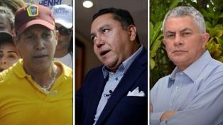 Falcón, Bertucci y Quijada, los tres rivales de Maduro, con escasas chances