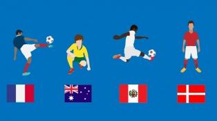 Grupo C: Francia y sus jóvenes, junto a Perú, Dinamarca y Australia