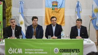 El gobernador Valdés inauguró una obra de defensa costera en Paso de la Patria