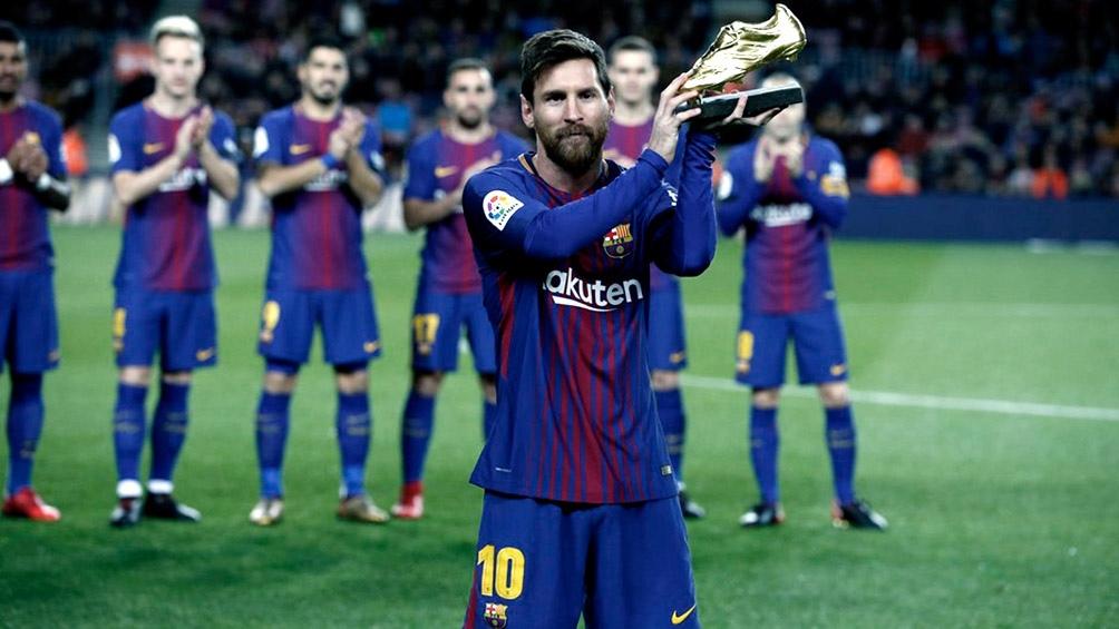 "Messi gana por sexta vez en su carrera la ""Bota de Oro"" europea (foto archivo)"